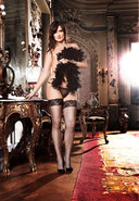 Corset W/ Mesh Thigh High - Q (disc)