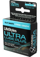 Lifestyles Condom Ultra Lubricated 3 Pack